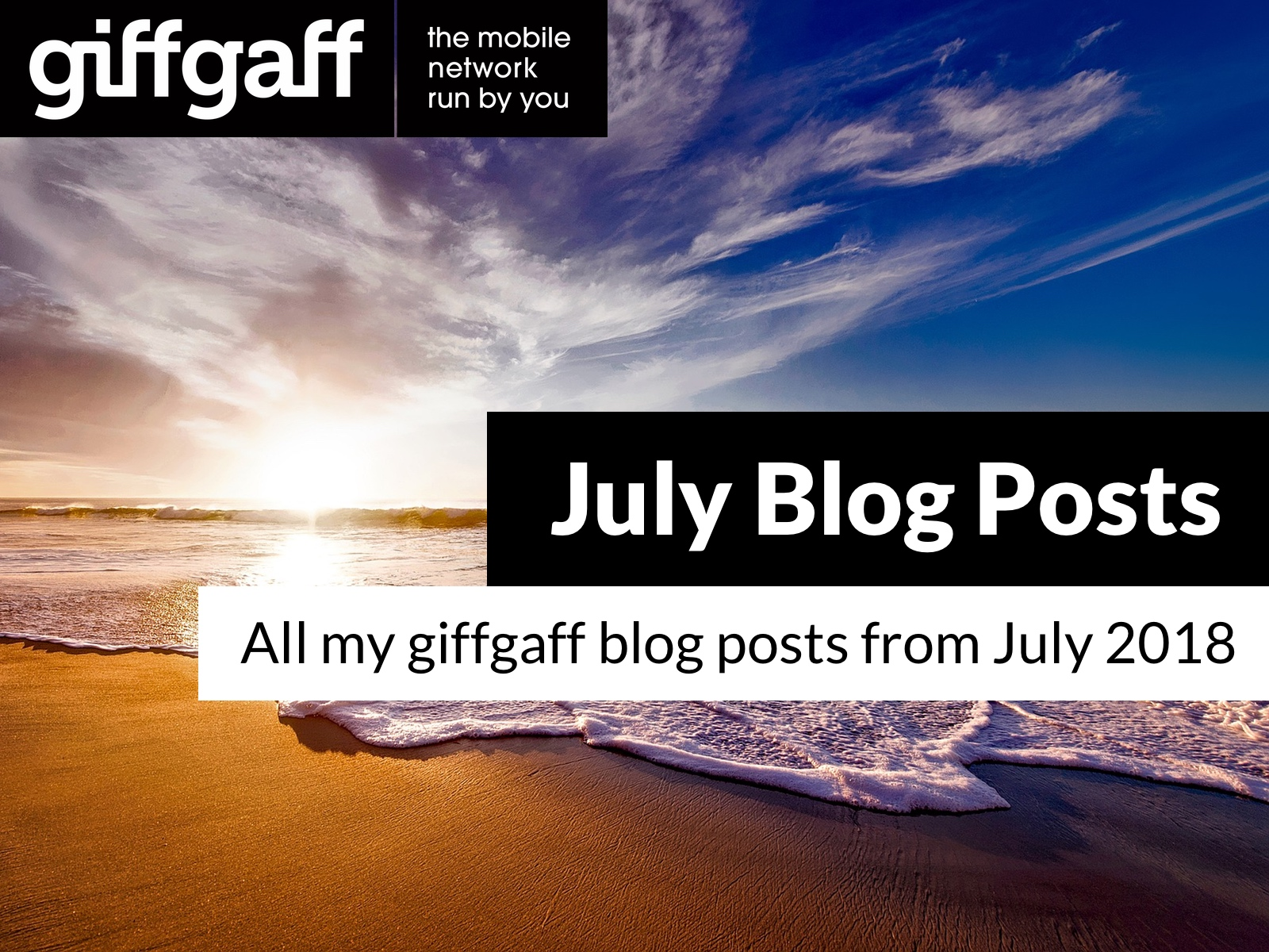 July 2018 Blog Posts