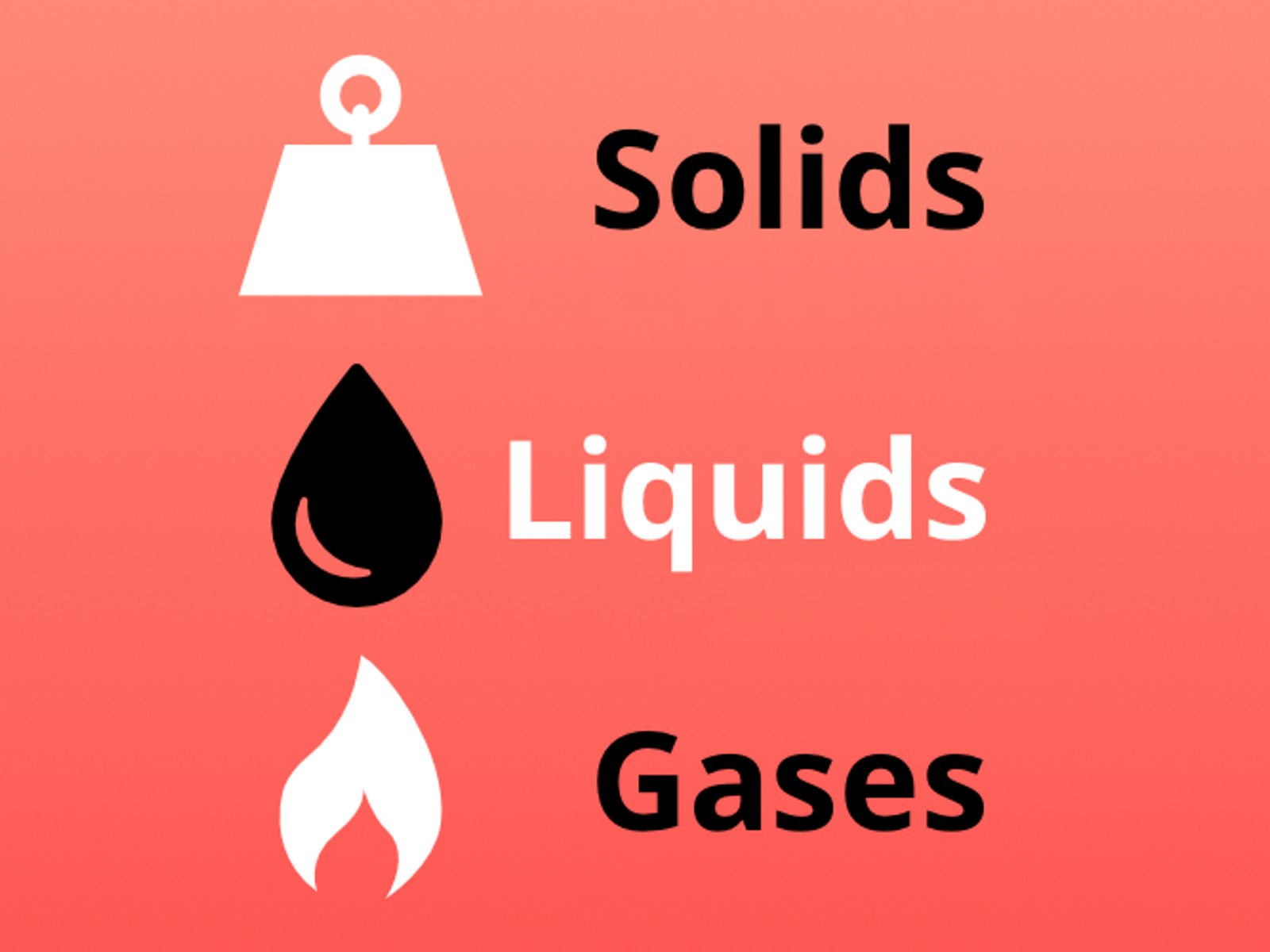 Solids, Liquids and Gases Quiz