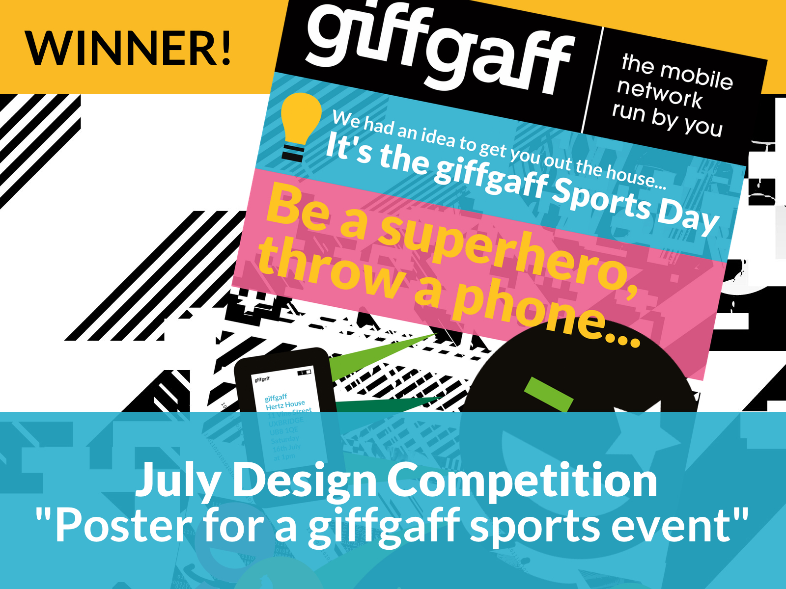 giffgaff sports poster