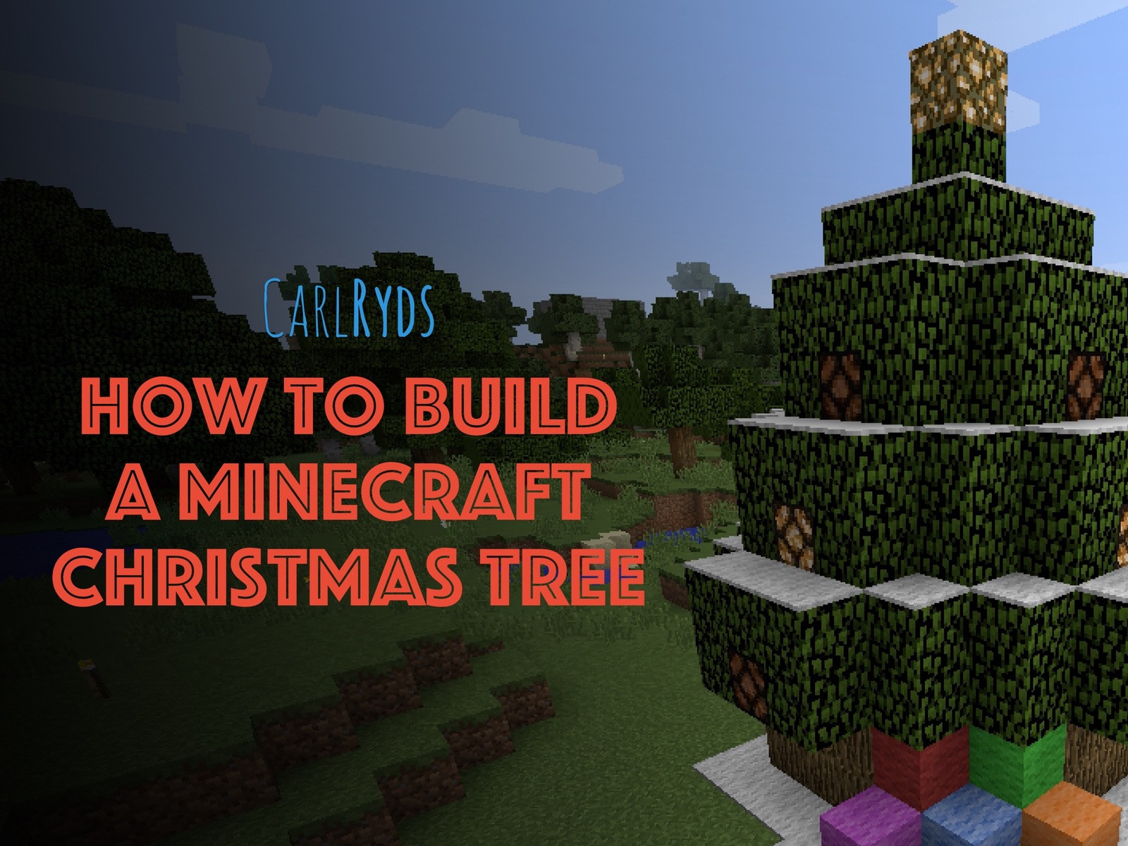 How To Build a Minecraft Christmas Tree