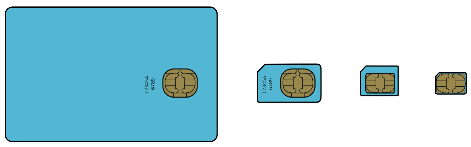 All four sim card sizes